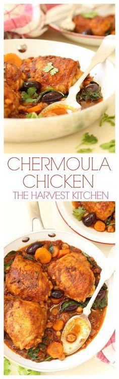 This Chicken Chermoula has a rich intoxicating combo of flavors and it's quick and easy to make.  It's pure comfort food with a touch of flair.  @theharvestkitchen.com