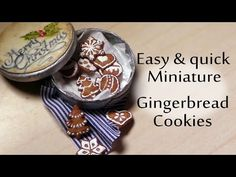 EASY; Gingerbread Cookies - Polymer Clay Miniature Food Tutorial - YouTube