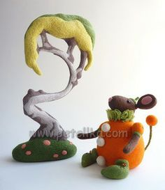 Gretel Parker и ее сказочные игрушки из шерсти.