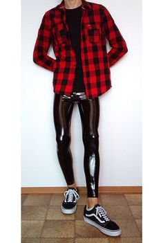 vans old skool outfit Cool Outfits For Men, Boy Outfits, Vans Old Skool Outfit, Latex Men, Tight Leather Pants, Mens Tights, Tight Leggings, Super Skinny Jeans, Leather Fashion