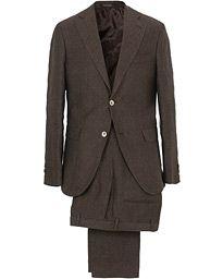 Egel Linen Suit Brown