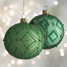 Harlequin Ball Ornaments  | Crate and Barrel $8