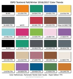 2016/2017 Color Trends @ http://www.fashiontrendsetter.com/content/color_trends/2015/ISPO-Color-Trends-Fall-Winter-2016-2017.html