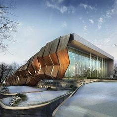 """8,170 Likes, 23 Comments - ARCHITECTURE NOW (@architecturenow) on Instagram: """"Convention center, REM designed for Kayseri Erciyes. Render by WOX"""""""