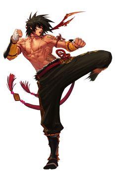 anime martial artist male - Google Search