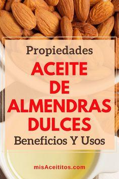 Essential Oil Uses, Beauty Secrets, Almond, Belleza Natural, Diy, Food, Medicine, Coconut Oil Benefits, Health Recipes