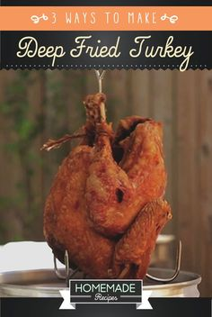 Do you want to learn how to deep fry a turkey the quick and easy way? Check out our homemade deep fried turkey recipe and how to use a turkey deep fryer!