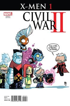 X-Men #1: Civil War II variant cover by Skottie Young *