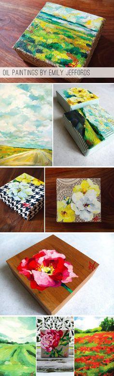 """oilpaintingsEmilyJeffords - Love the """"canvas"""" she uses"""