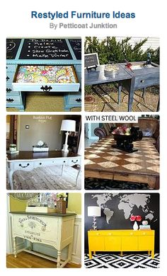 Don't give up on your tired old pieces! Here are 74 awesome furniture restyle ideas!
