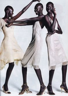 "Alek Wek looks stunning in every editorial. These items fit right in with the ""Paris Vogue Editor"" style that is in favor right now."