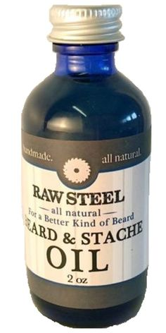 RAW STEEL Beard & Mustache Conditioning Oil with Natural Beeswax