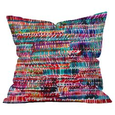 Bring a plush pop of color to your bed or sofa with this vibrant pillow, featuring a multicolor motif by artist Amy Sia for DENY Designs. Made in the USA.