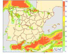 El tiempo del sábado: Lluvias en Cataluña y Baleares con aumento de la temperatura en el Norte donde habrá viento del norte.