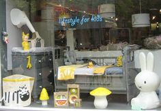 Our new window with yellow and grey I love that combination!