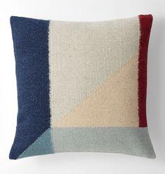 E1911 Woven Pillow Black Triangles 160307 0149 E1911