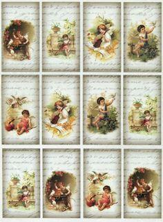 Ricepaper/ Decoupage paper, Scrapbooking Sheets Vintage Little Angels