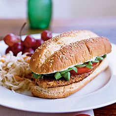 Cornmeal-Crusted Tilapia Sandwiches with Lime Butter | CookingLight.com