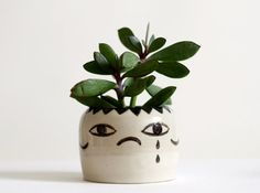 Bipolar - Ceramic Vase - Cache Pot - happy, sad