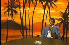 A classic scene from the movie Scarface starring Al Pacino is featured on this standard sized postcard. Al Pacino, Scarface Film, Scarface Poster, Sunset Boulevard, Gangster Movies, Background Pictures, Film Stills, Good Movies, Hd Wallpaper