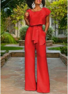 Cropped Top Wide Legs Pants Set – Chicloth