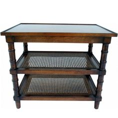 TABLES & CHAIRS : Cane Side Table