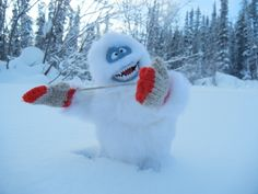 How cold is it? It's so cold that a Bumble has to wear mittens!