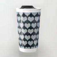 Rustic Hearts  Travel Mug