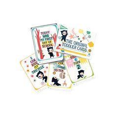 Milestone ORIGINAL JUNIOR CARDS. De 1-4 Años. EN ESPAÑOL.Primer día de cole, aprendiendo a saltar, bailar, atrapar una pelota ... y muchas más.