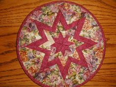 Crazy Mary's Place: Folded Star Hot Pad