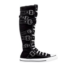 Converse All Star Strap XX-Hi Athletic Shoe - Black (also available w/o Straps and in Double Black kind of detail; $89.99 @ Journeys; I'm unable to wear these because they are too tight on my calves but I LOVE THEM SO MUCH!)
