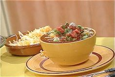 Veg-Head Three-Bean Chili recipe from Rachael Ray via Food Network