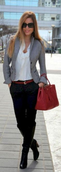 Trendy business casual work outfit for women (6)