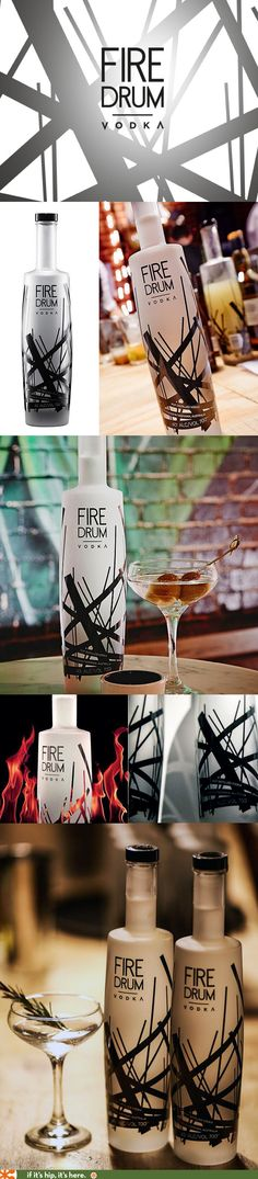 Firedrum Vodka from Tasmania has a very nice logo and bottle design.
