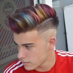 highlights hair by renowned london colourist 30 hair color highlights for men to rejuvenate youth 5 rules of hair highlights … Funky Hair Colors, Mens Hair Colour, Cool Hair Color, Funky Hairstyles, Hairstyles Haircuts, Medium Hairstyles, Highlighted Hairstyles, Man Haircuts, Latest Hairstyles