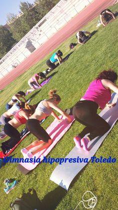 Primera sesión al aire libre de gimnasia hipopresiva