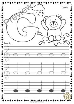 Treble Clef Tracing Music Notes Worksheets for Spring * Anastasiya Multimedia Studio Music Lessons For Kids, Music Lesson Plans, Music For Kids, Piano Lessons, Learning Music Notes, Music Math, Music Education, Compas Musical, Music Theory Worksheets