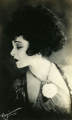 """Alla Nazimova. YANG. Laredo Times12/27/1934 Professor Belle Northrup (creator of Yin Yang Typing) """"Are You Yin, Madam, Or Are You Yang? article Northup's example of a leopard woman = Alla Nazimova.  #kibbe fans may enjoy."""