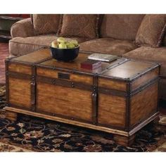 Neat Idea For The Old Trunk Of Mom S Wooden Coffee Table