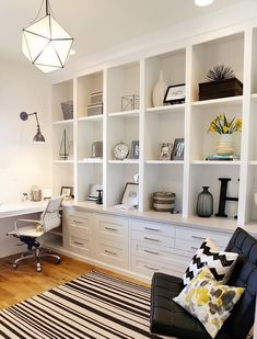As time goes on, your home office is going to become more and more cluttered. You can get organized, however, if you choose furniture that has ample storage space. Everyone has different storage needs, but you might want to consider a combination of desk drawers, file cabinets and shelves.