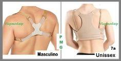 corretor coluna colete postural magnetos reforçado modelador