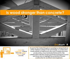 Is timber construction the future of architecture? #Spire#Spirethoughts#Wood#Concrete#Future#Architecture #Crosslaminationtimber