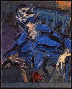 Frank Auerbach (UK b. 1931) J.Y.M. Seated (1987) oil on canvas