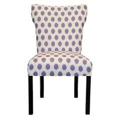 ikat-print chairs