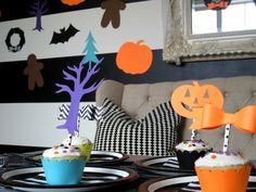 Design Sprinkle: Halloween Party Ideas #NightmareBeforeChristmas #CupcakeToppers