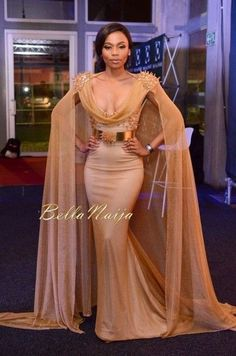 Celebrity red carpet dresses with cape beads sequins sparkling mermaid prom dresses scoop arabic dresses evening wear formal dress shop full length evening African Attire, African Wear, African Dress, African Fashion, Mermaid Evening Dresses, Evening Gowns, Prom Dresses, Dresses 2016, Dresses Uk