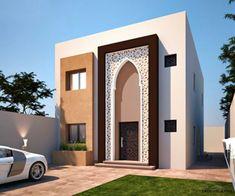 Classic House Design, House Front Design, Small House Design, Modern House Design, Islamic Architecture, Facade Architecture, School Building Design, Bungalow Haus Design, Interior Design Dubai
