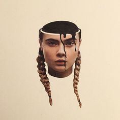 the collage mash-up madness of the daily splice | cara delevingne with pigtail braids