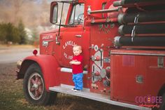 Children's Photography  |  SLC  |  Cocobee Photography  |  Birthday Photoshoot ideas for boys  |  Firetrucks