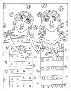 additional images of fanciful folk art coloring book by karla gerard connectingthreadscom